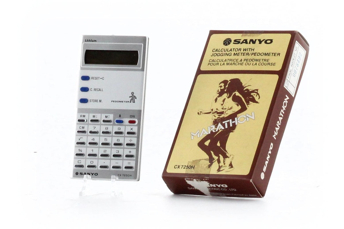 Sanyo Marathon: Calculator with Jogging Meter/ Pedometer