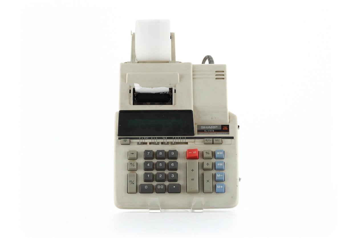 Sharp EL-2197 II Electronic Printing Calculator