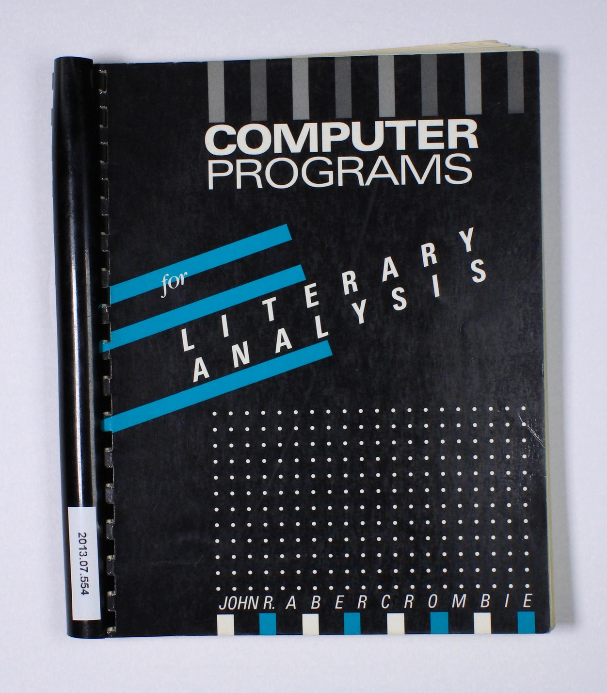 Computer Programs for Literary Analysis
