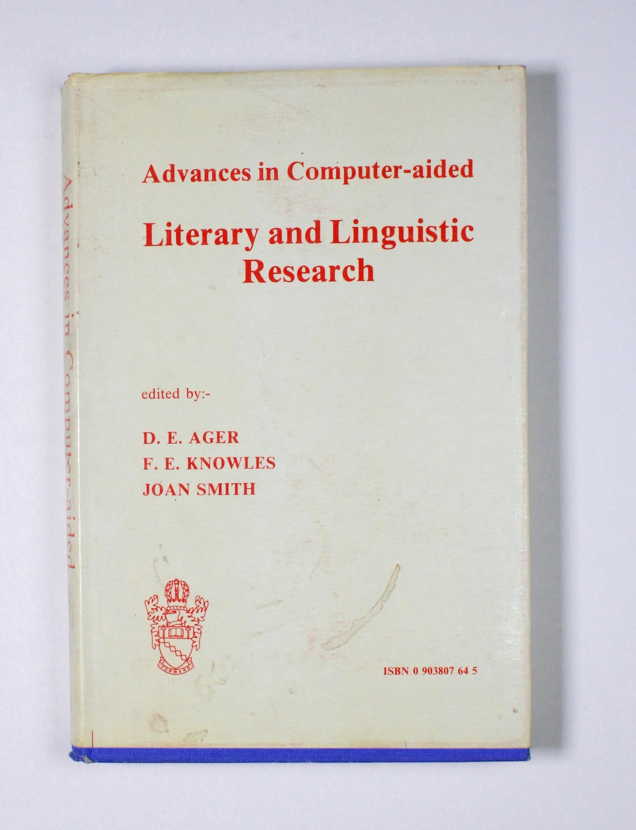 Advances in Computer-aided Literary and Linguistic Research