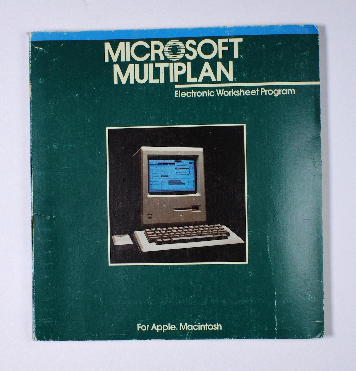 Macintosh - Microsoft Multiplan - Electronic Worksheet Program (Manual)