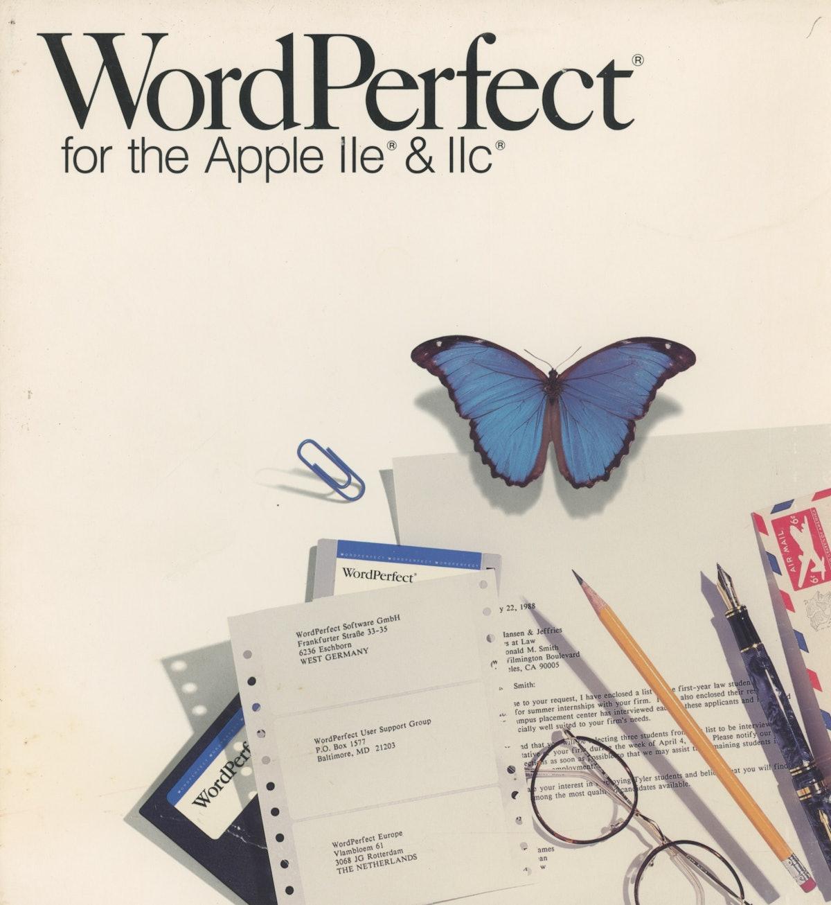 WordPerfect for the Apple IIe and IIc