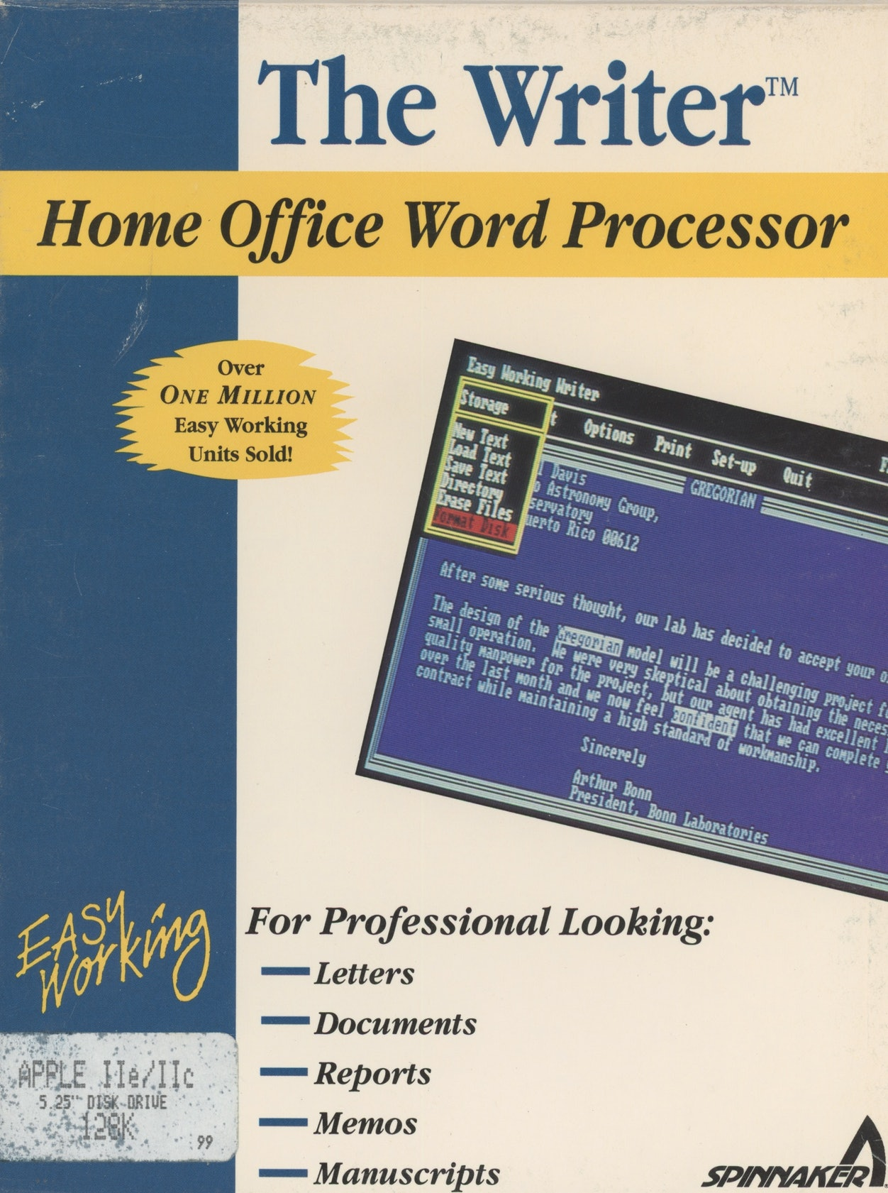 The Writer: Home Office Word Processor
