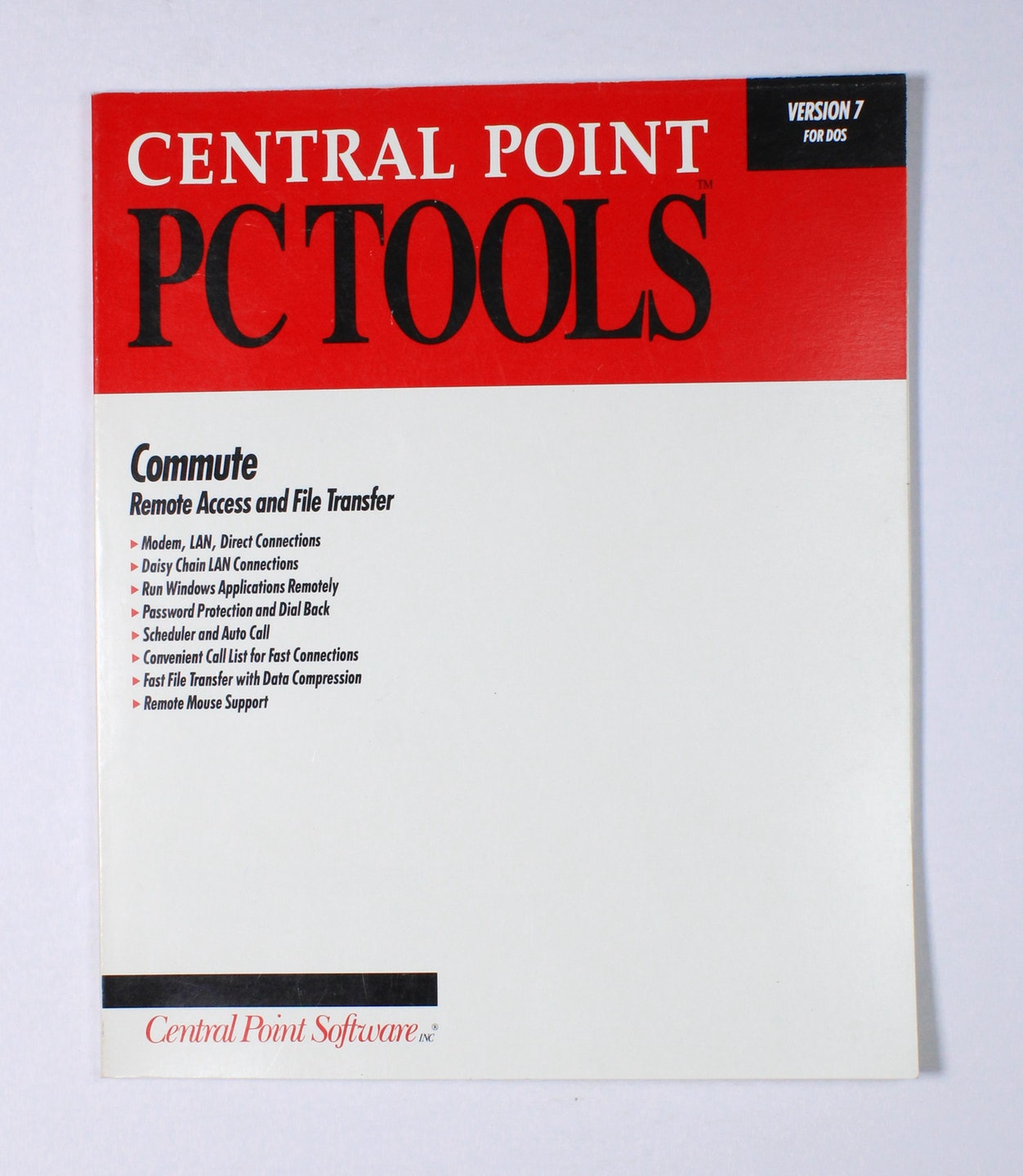 Central Point PC Tools: Commute (Remote Access and File Transfer)
