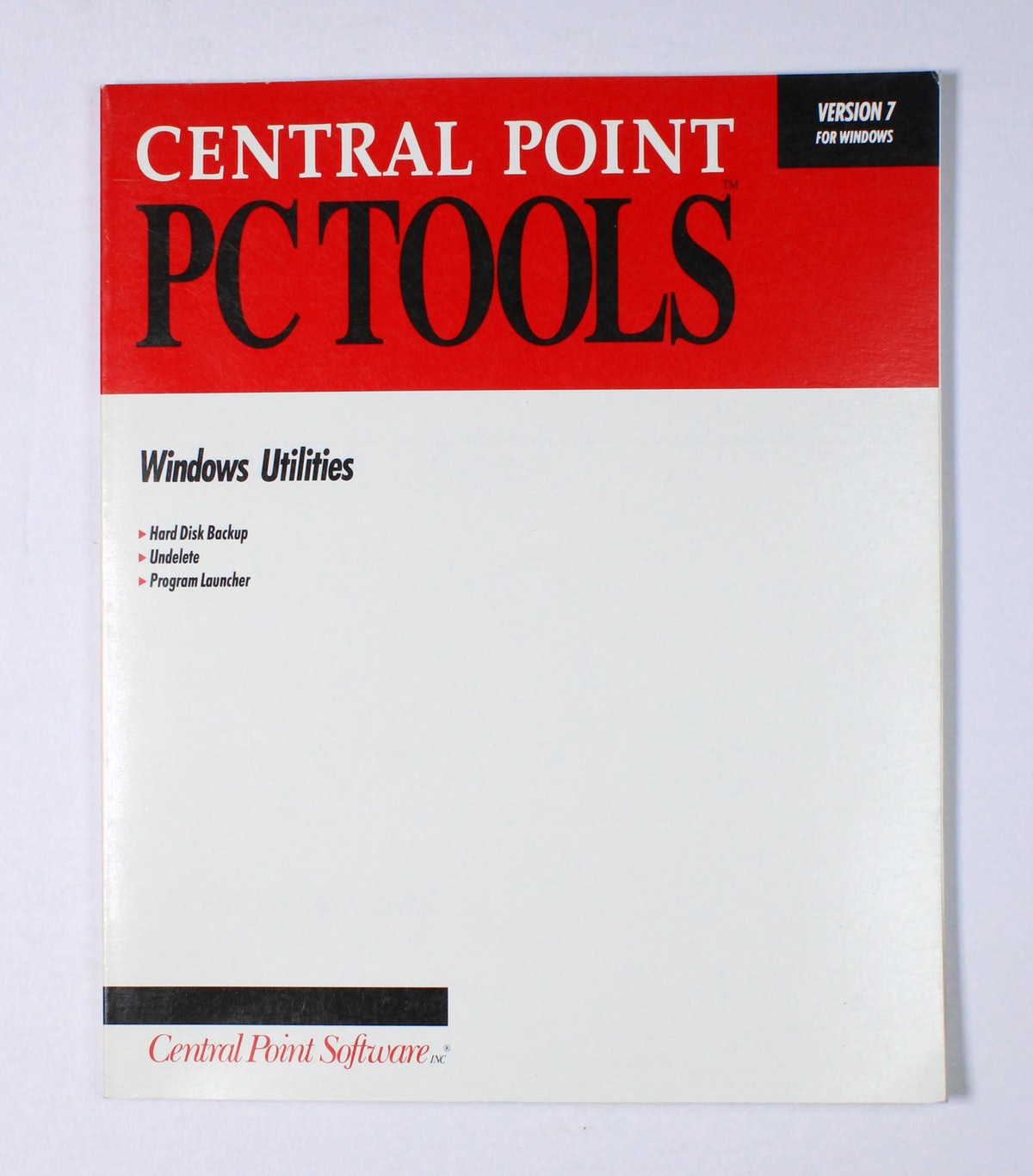 Central Point PC Tools: Windows Utilities