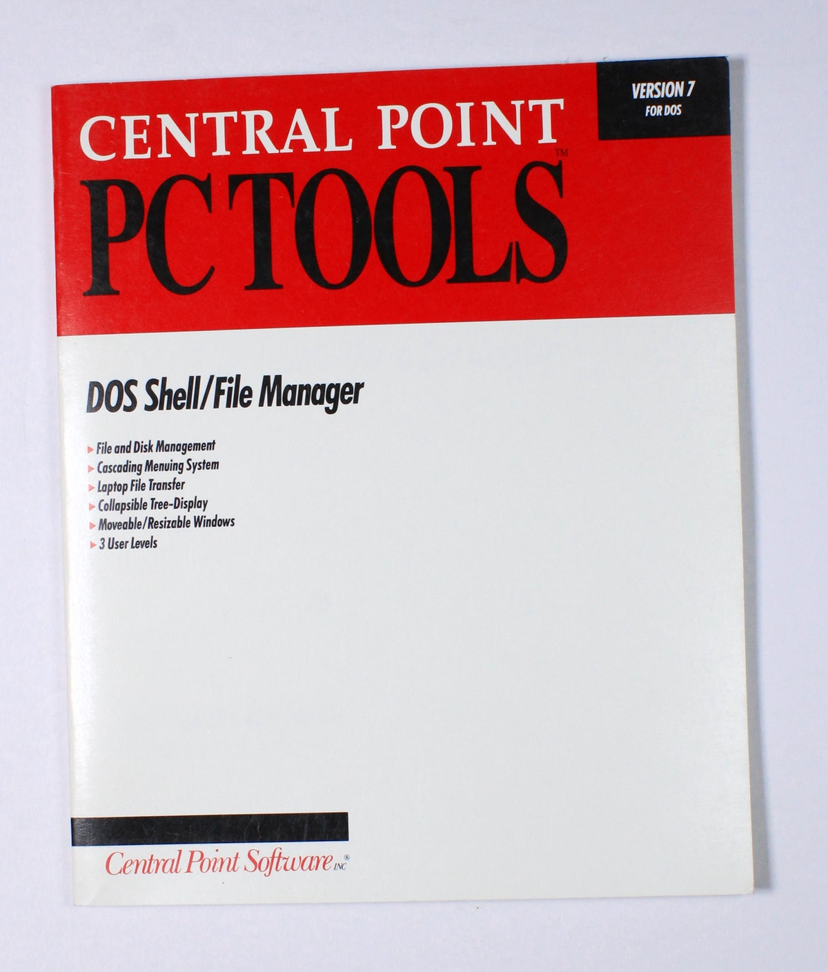 Central Point PC Tools: DOS Shell/ File Manager