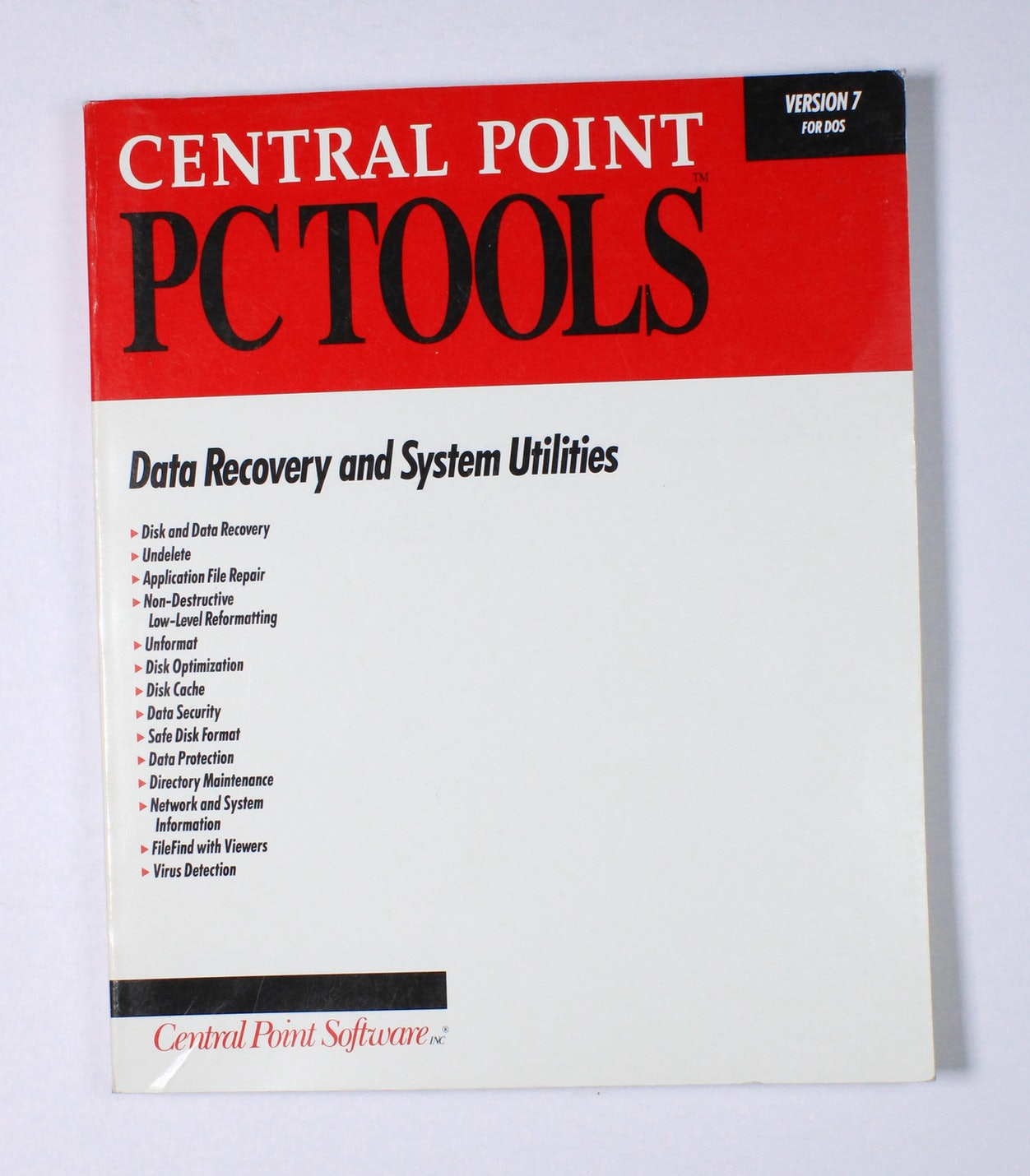 Central Point PC Tools: Data Recovery and System Utilities