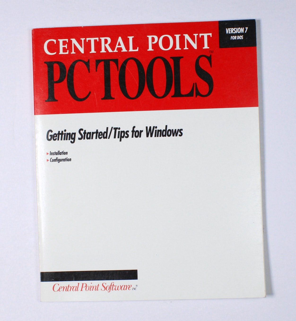 Central Point PC Tools: Getting Started/Tips for Windows