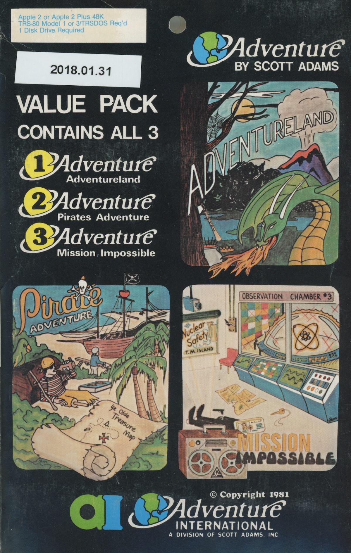 Adventure 1, 2, 3
