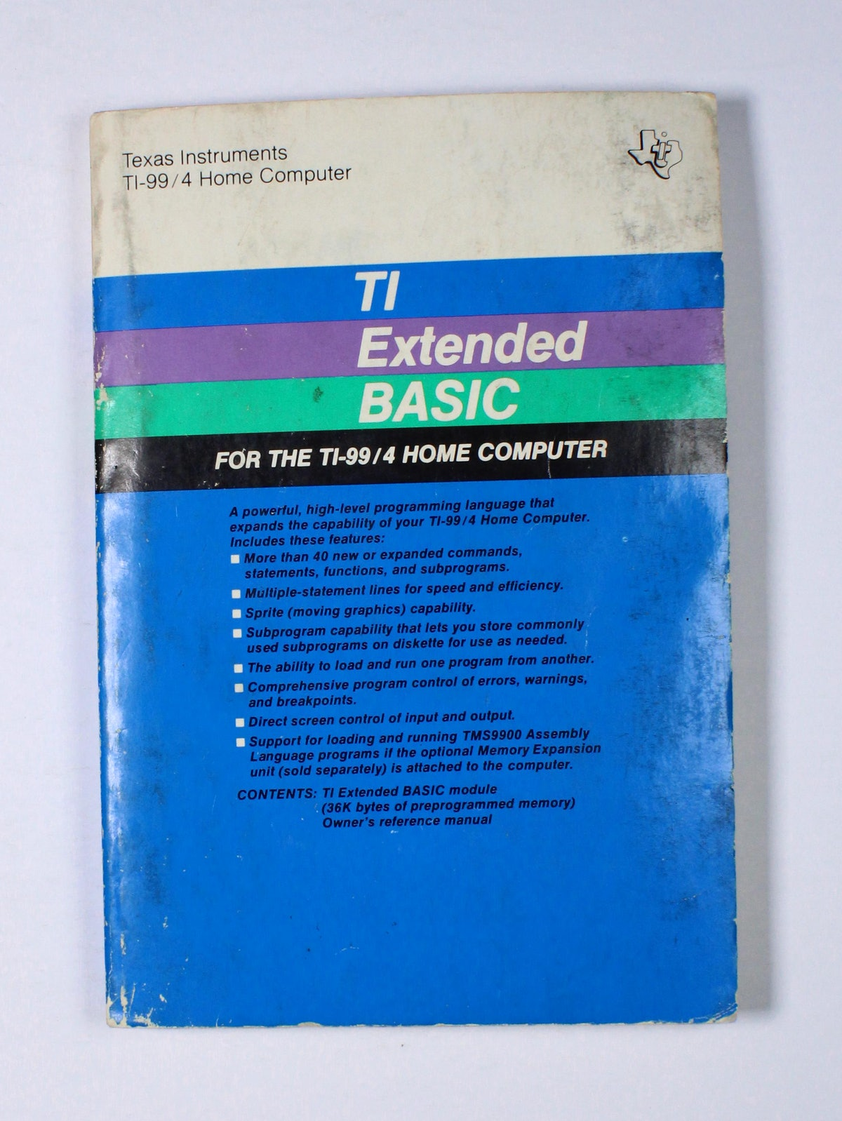 TI Extended BASIC: for the TI-99/4 home computer
