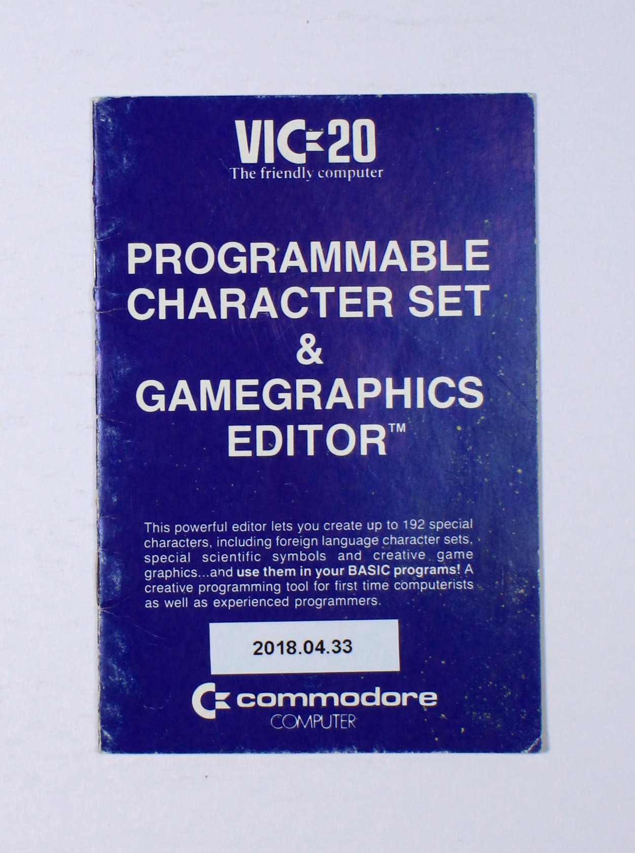 VIC-20 Programmable Character Set & Gamegraphics Editor