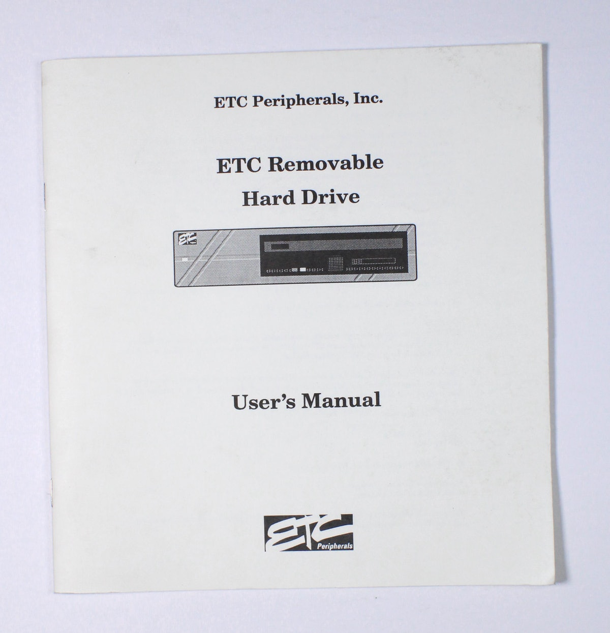 ETC Removable Hard Drive User's Manual