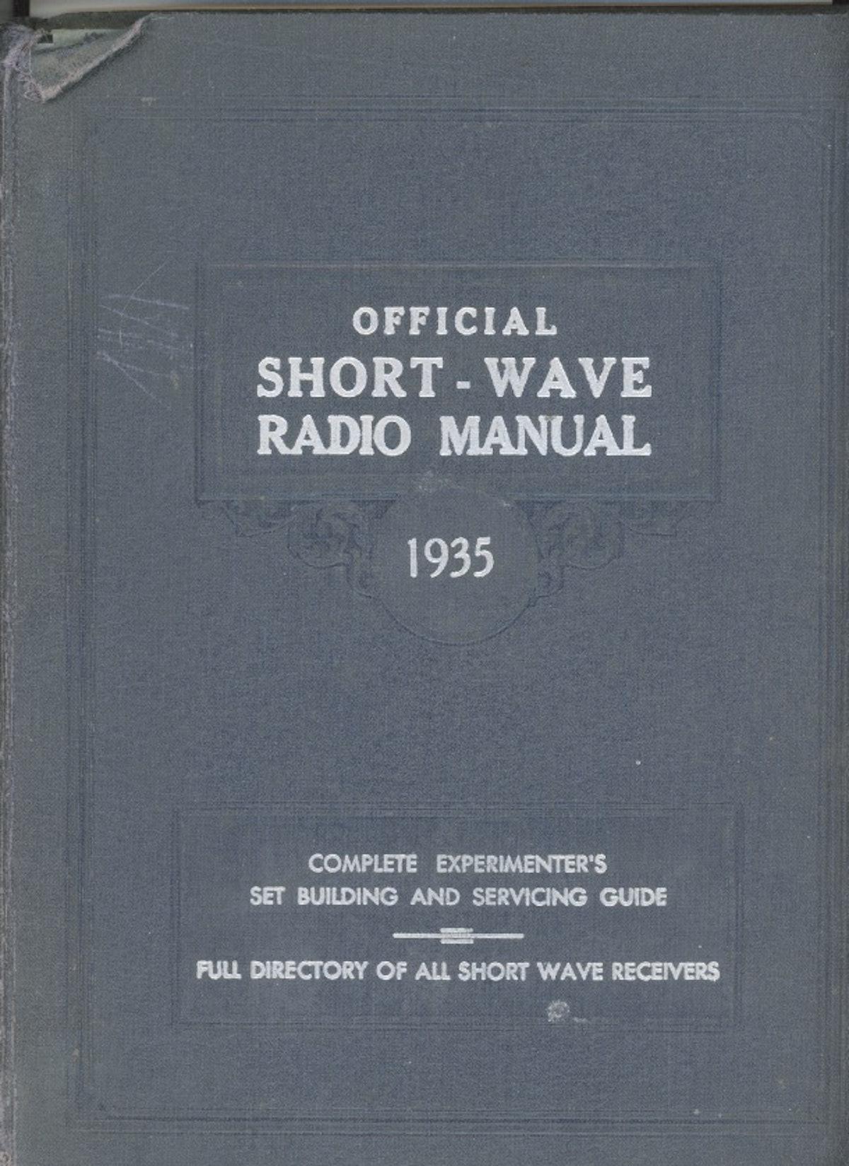 Official Short-Wave Radio Manual 1935