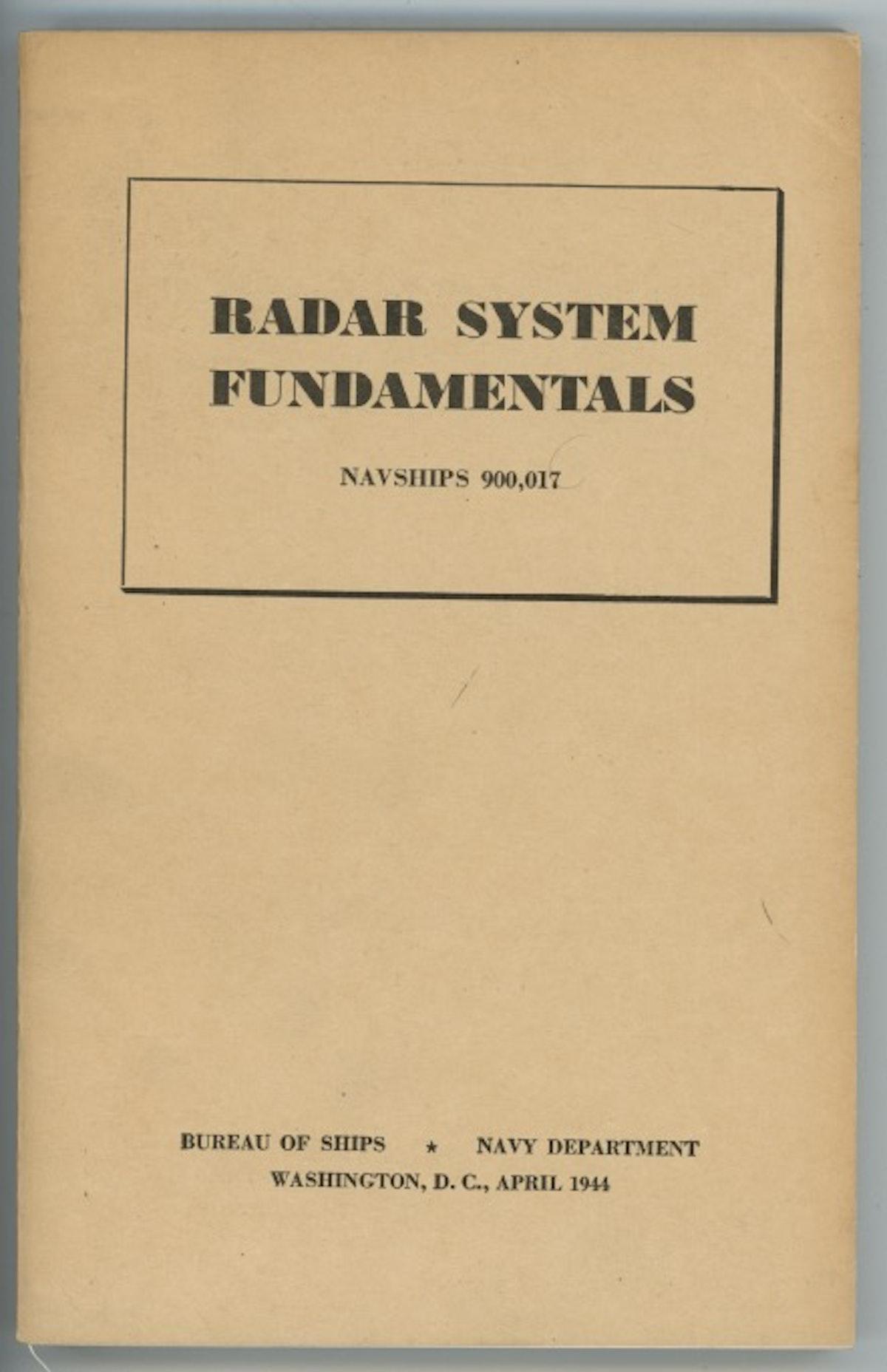 Radar System Fundamentals Navships 900,017