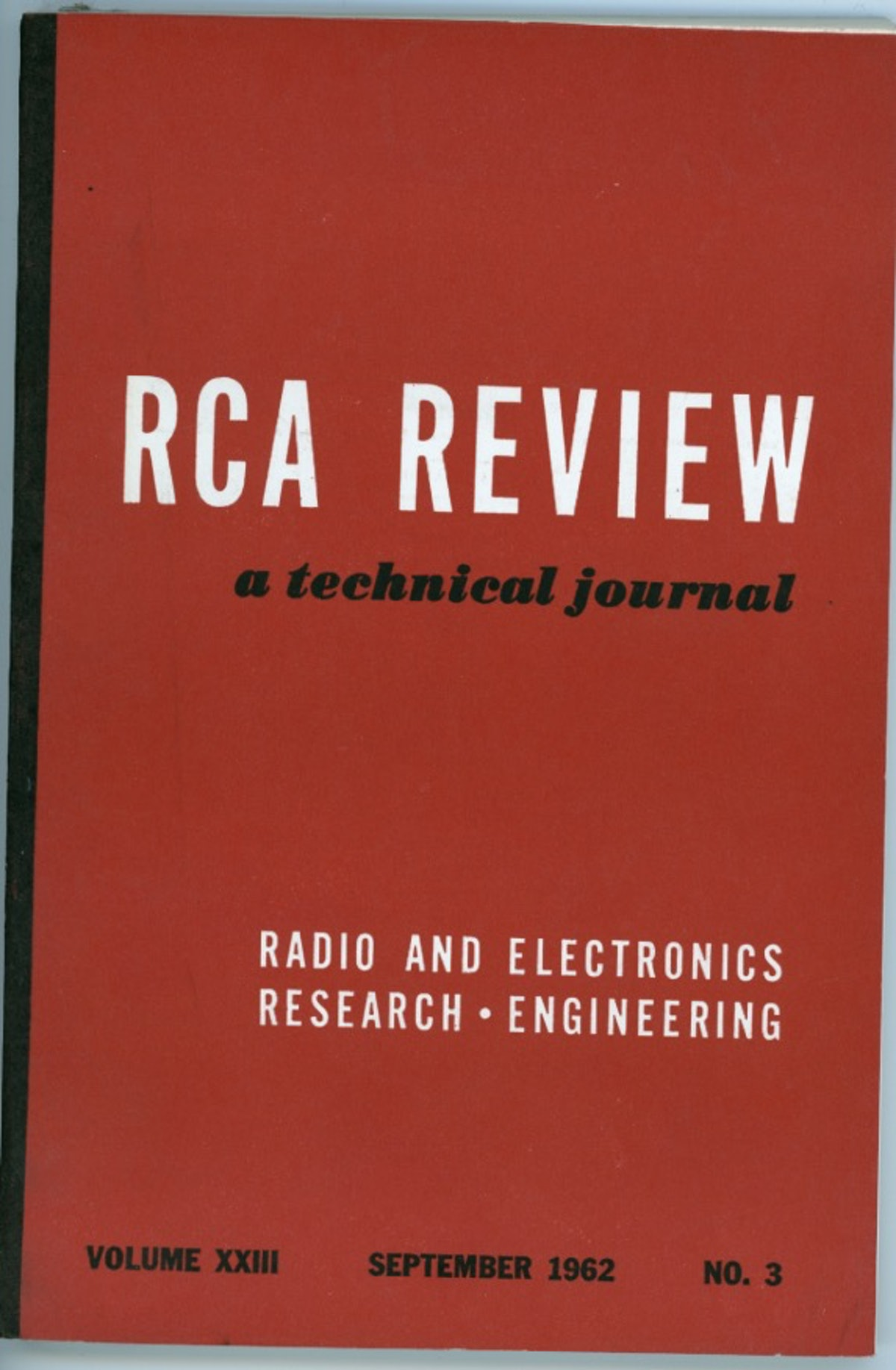 RCA Review: A technical journal