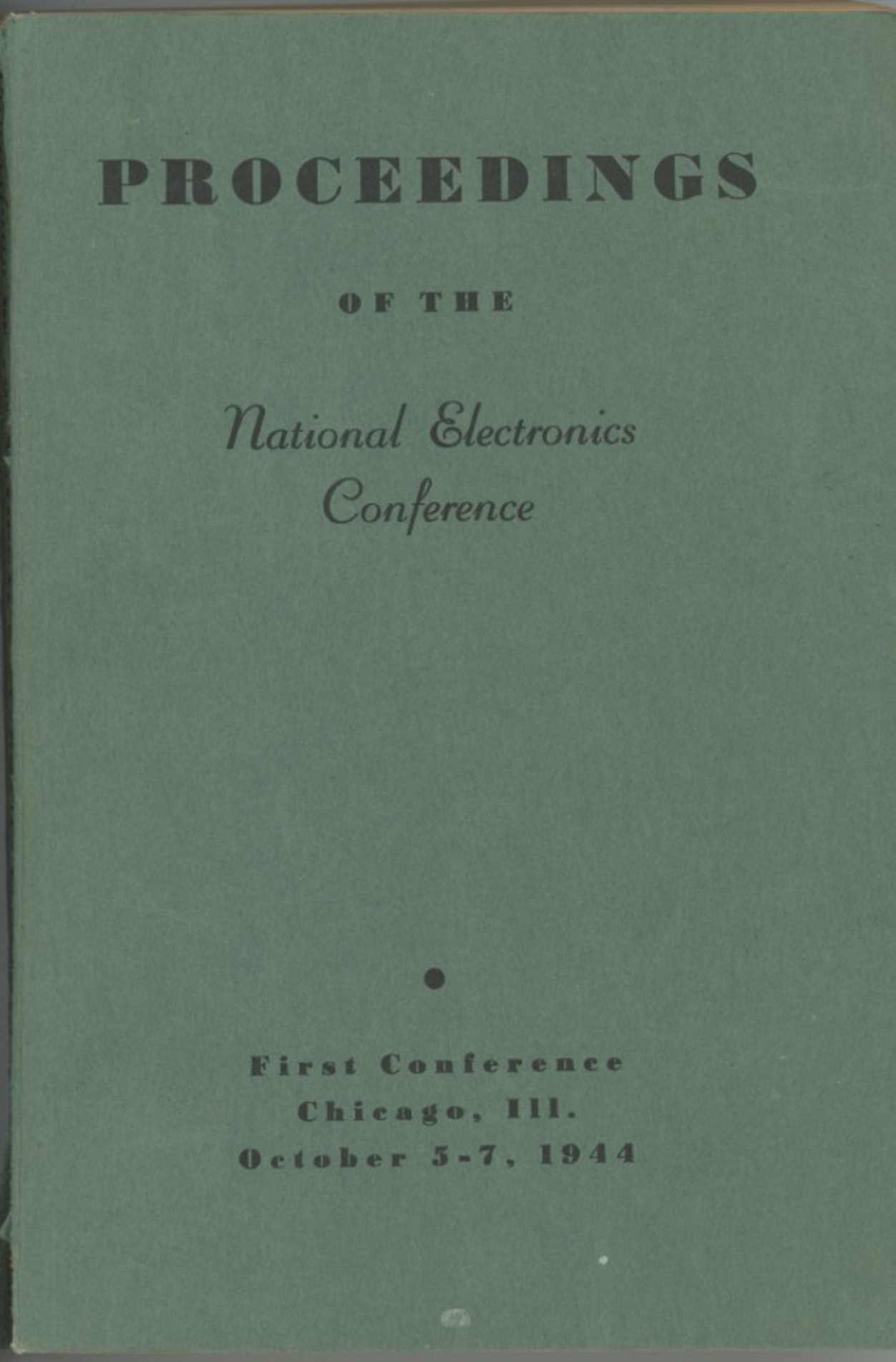 Proceedings of the National Electronics Conference