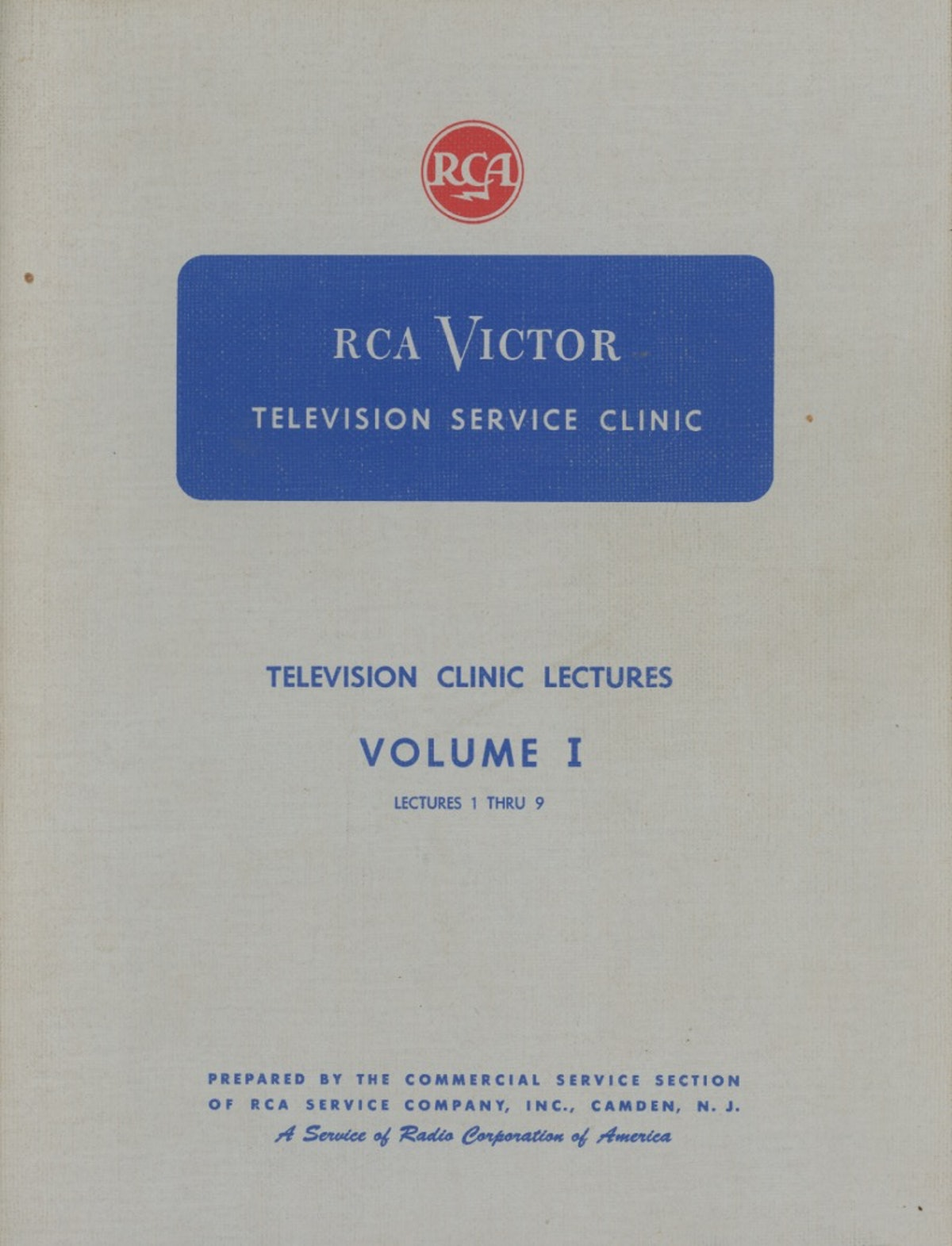 RCA Victor Television Service Clinic