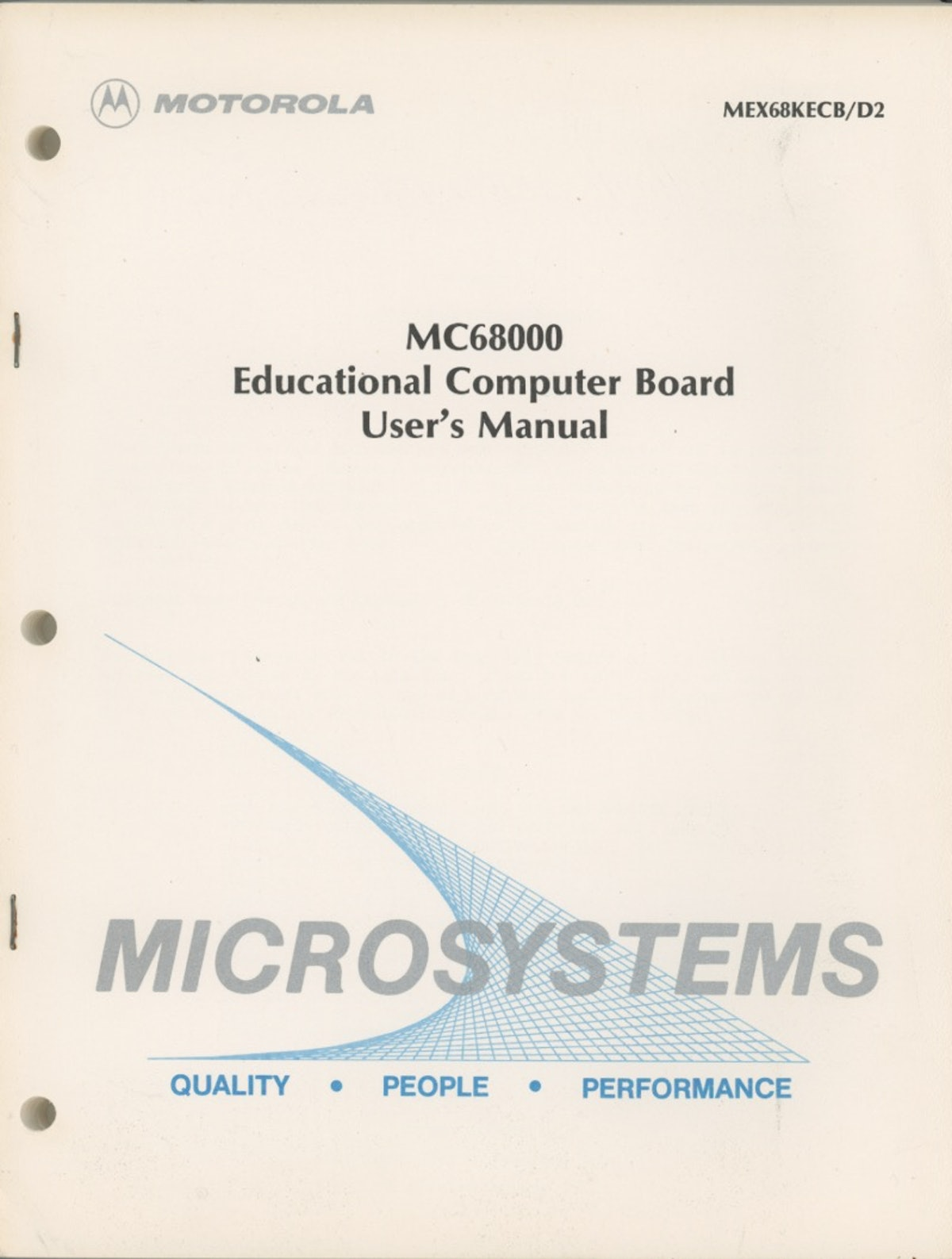 MC68000 Educational Computer Board User's Manual