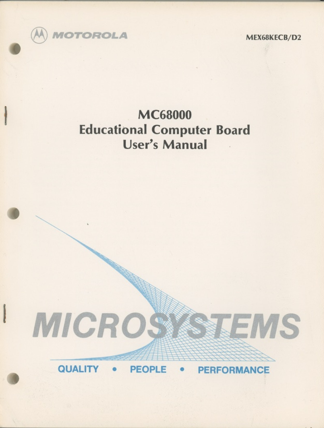 MC68000 Educational Computer Board User's Manual
